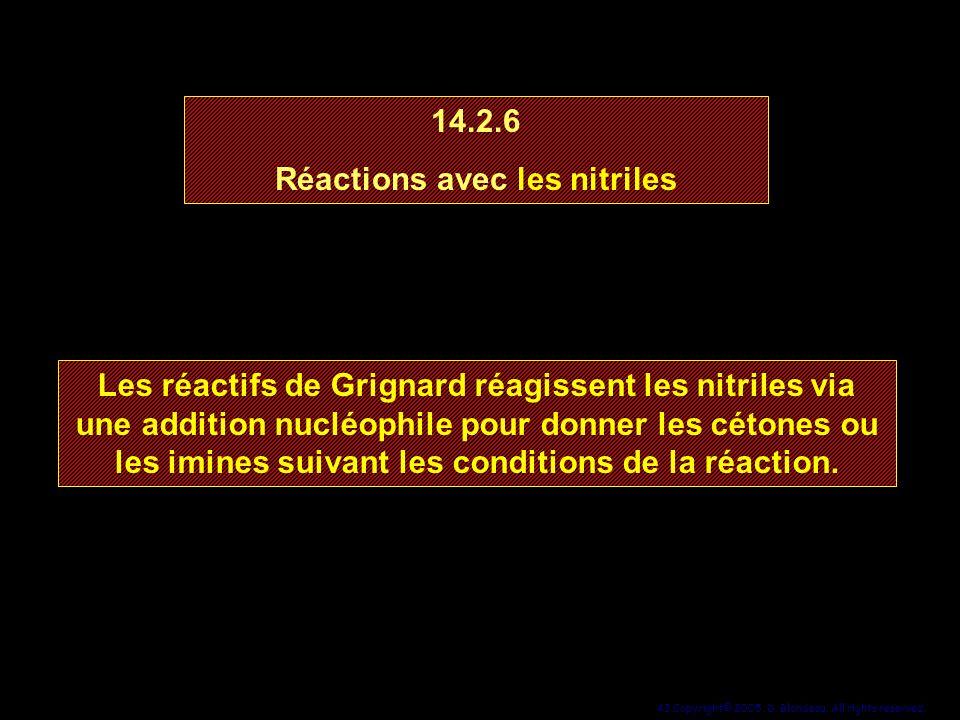Réactions avec les nitriles