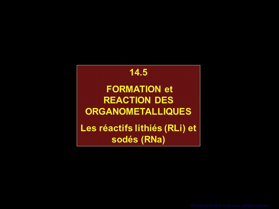 FORMATION et REACTION DES ORGANOMETALLIQUES