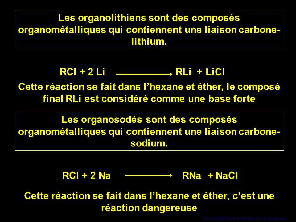 Les organolithiens sont des composés organométalliques qui contiennent une liaison carbone-lithium.