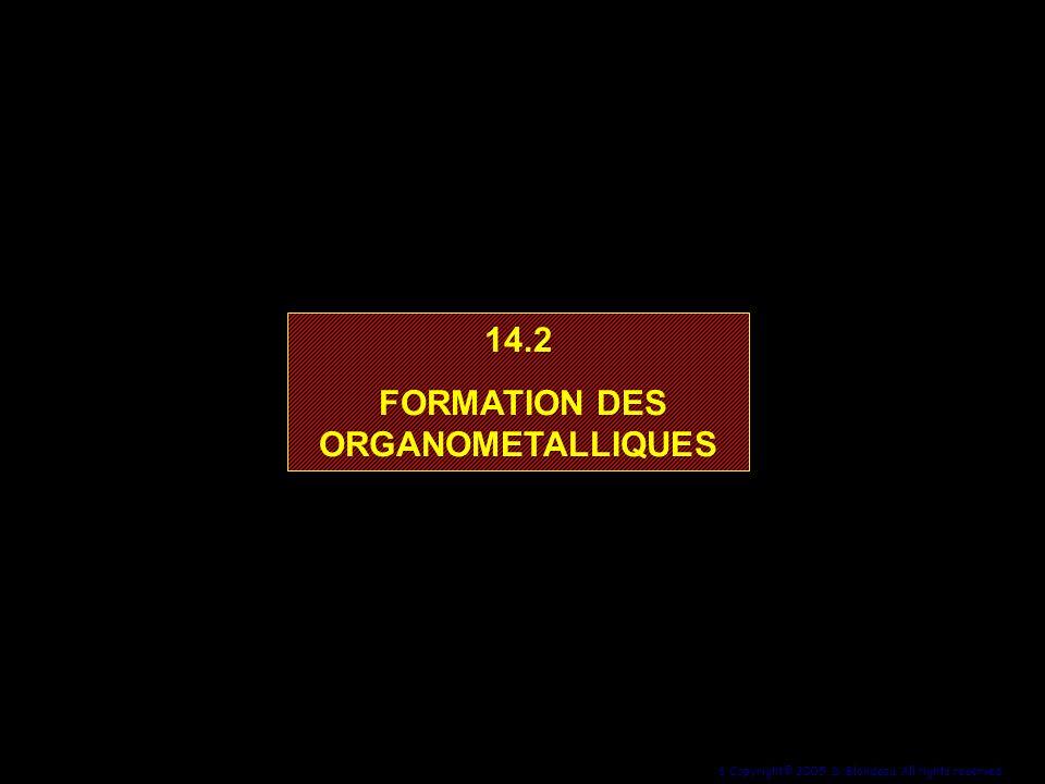 FORMATION DES ORGANOMETALLIQUES
