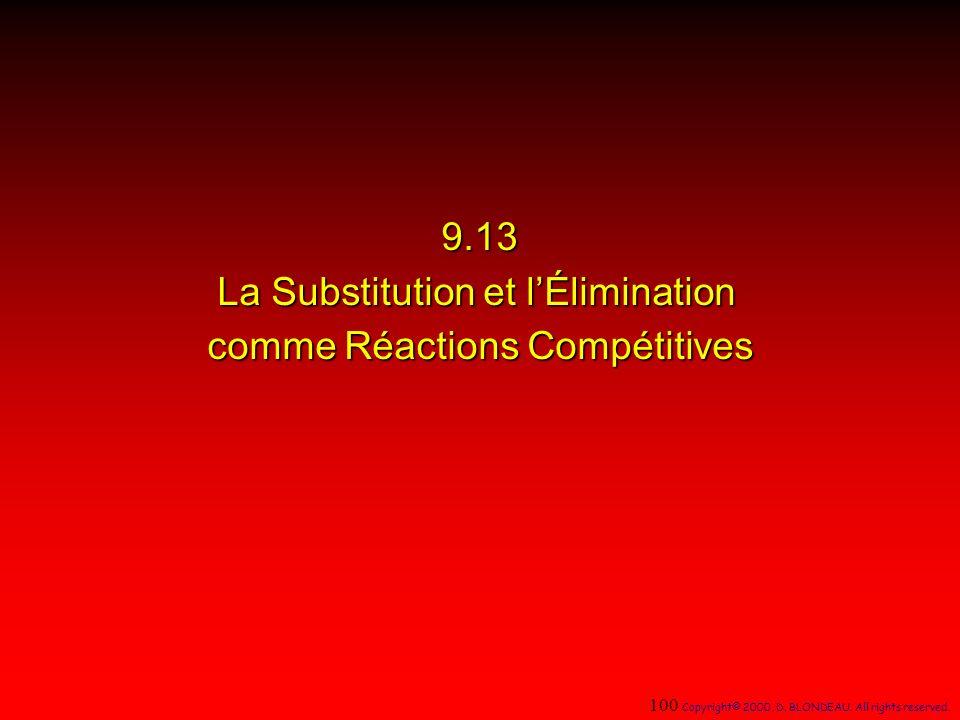 9.13 La Substitution et l'Élimination comme Réactions Compétitives