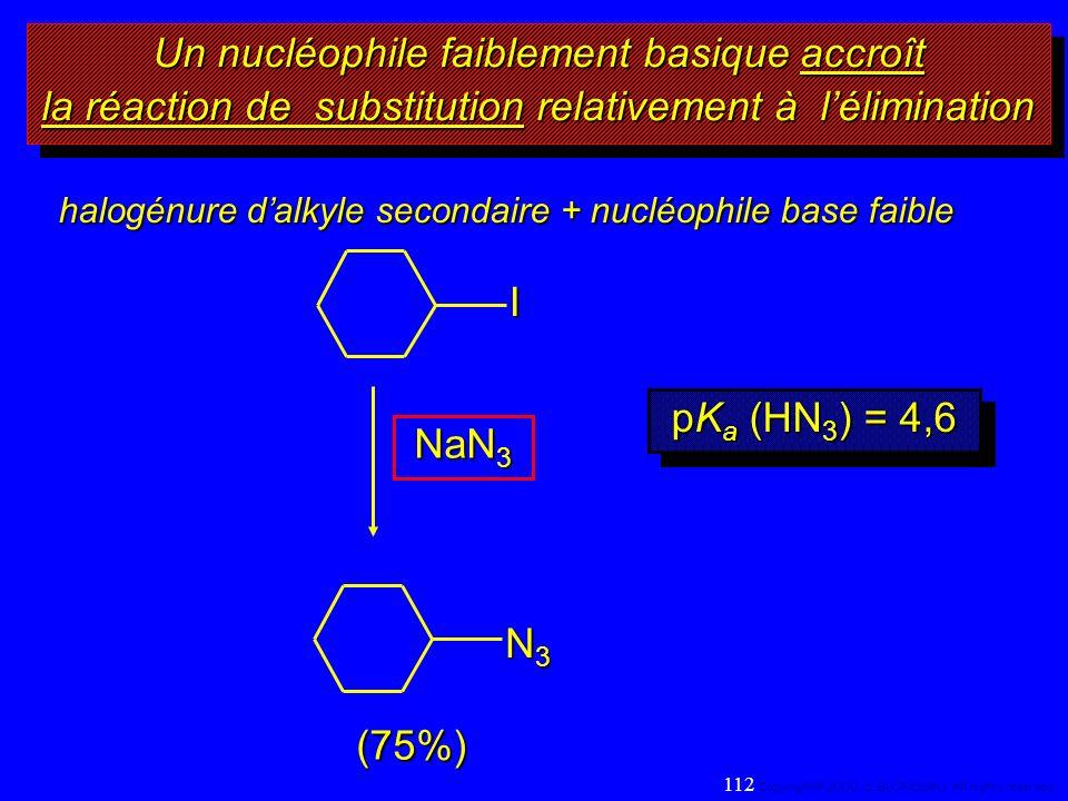 Un nucléophile faiblement basique accroît