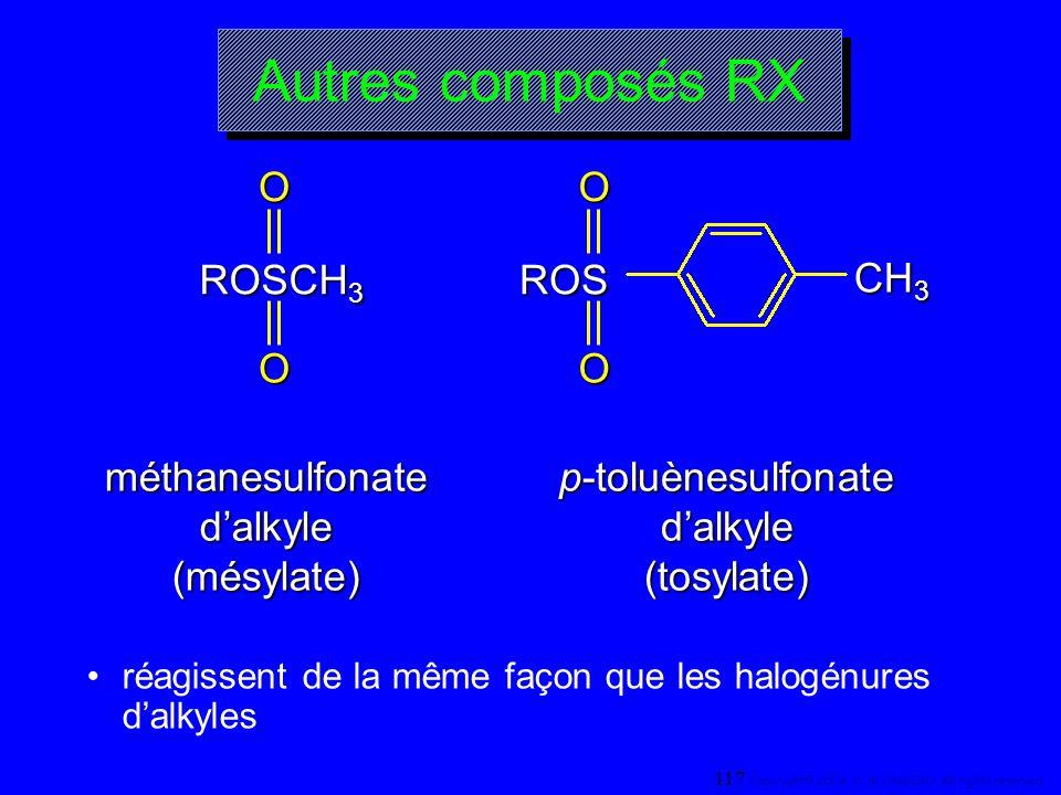 Autres composés RX ROSCH3 O ROS O CH3 méthanesulfonate