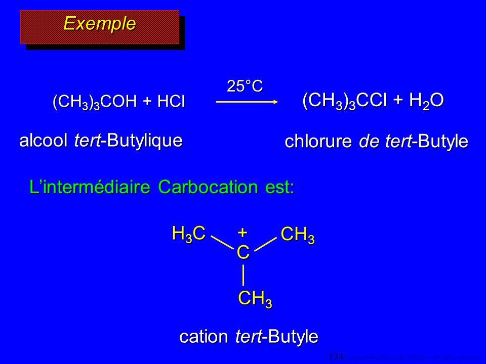 alcool tert-Butylique chlorure de tert-Butyle