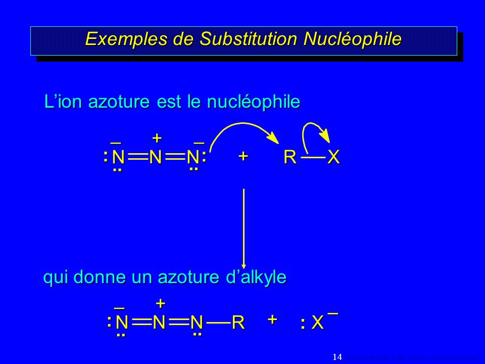 Exemples de Substitution Nucléophile