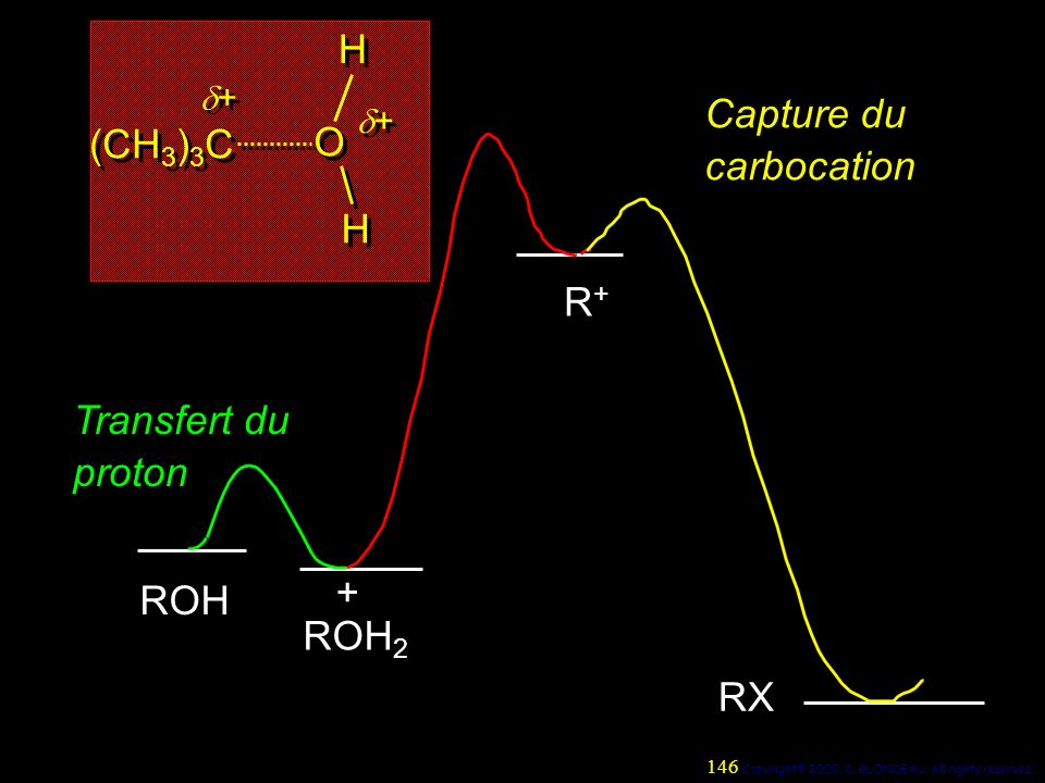 Capture du carbocation