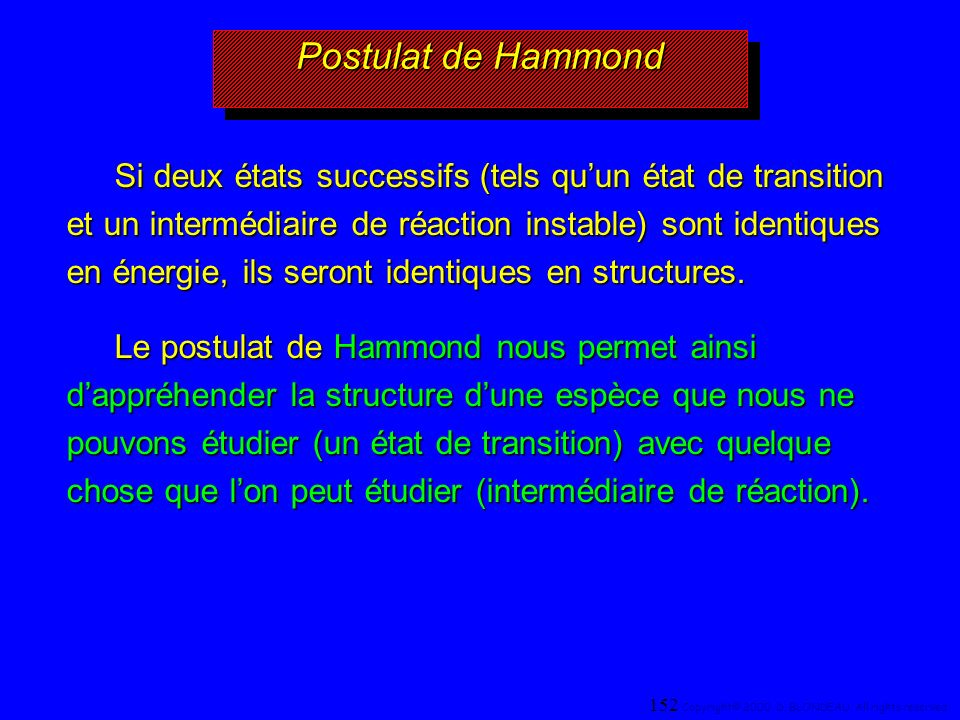Postulat de Hammond