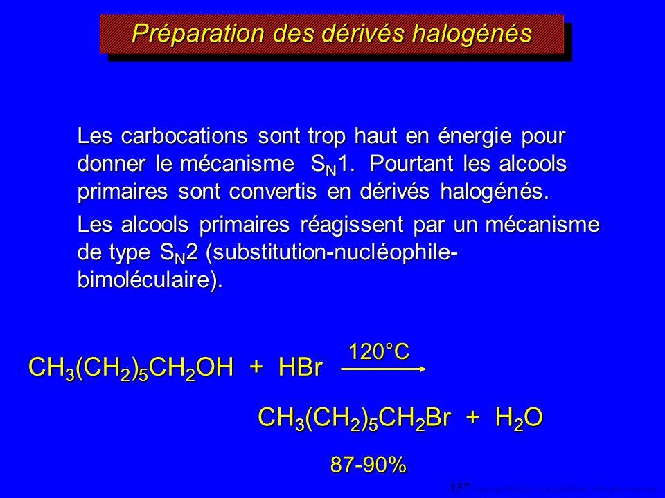 Préparation des dérivés halogénés