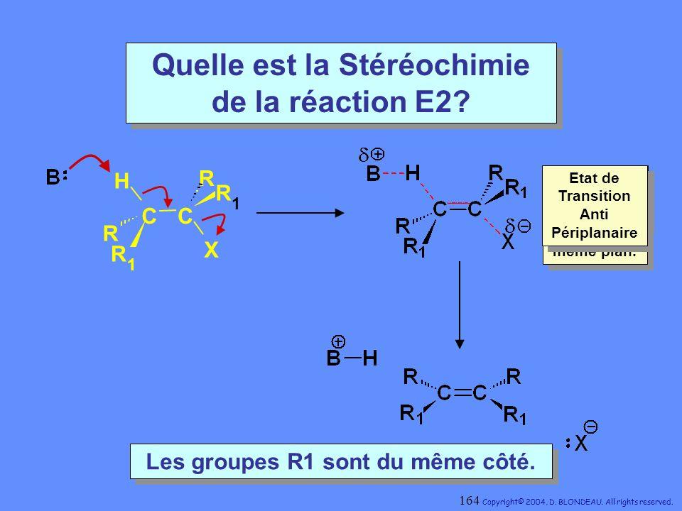 Quelle est la Stéréochimie de la réaction E2
