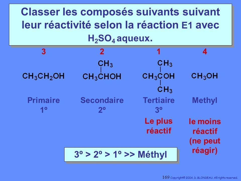 3º > 2º > 1º >> Méthyl
