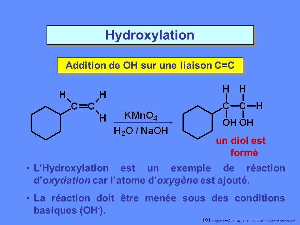 Addition de OH sur une liaison C=C
