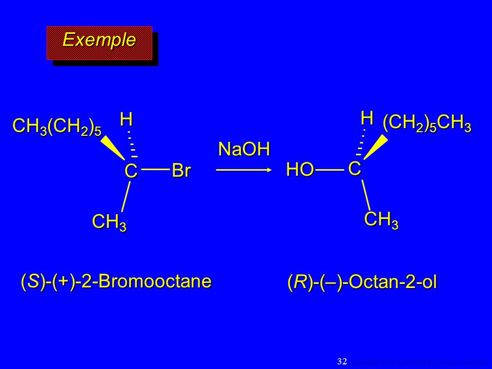 (S)-(+)-2-Bromooctane (R)-(–)-Octan-2-ol