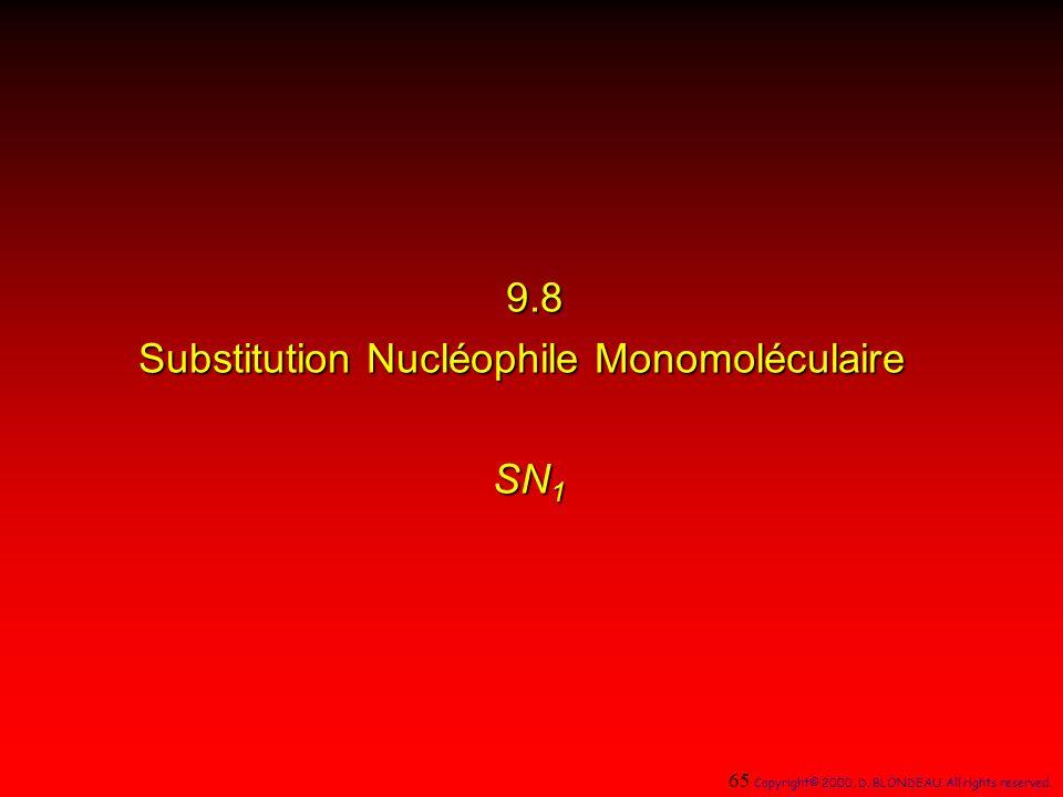 Substitution Nucléophile Monomoléculaire SN1