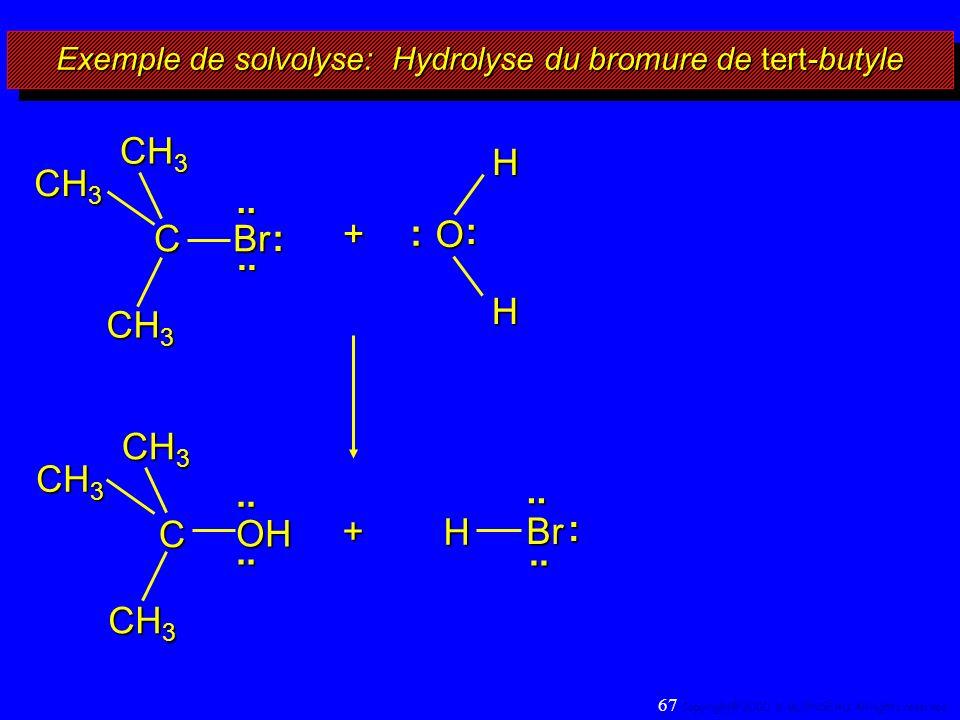 Exemple de solvolyse: Hydrolyse du bromure de tert-butyle