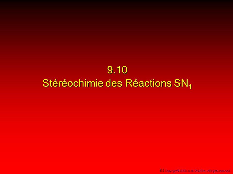 9.10 Stéréochimie des Réactions SN1