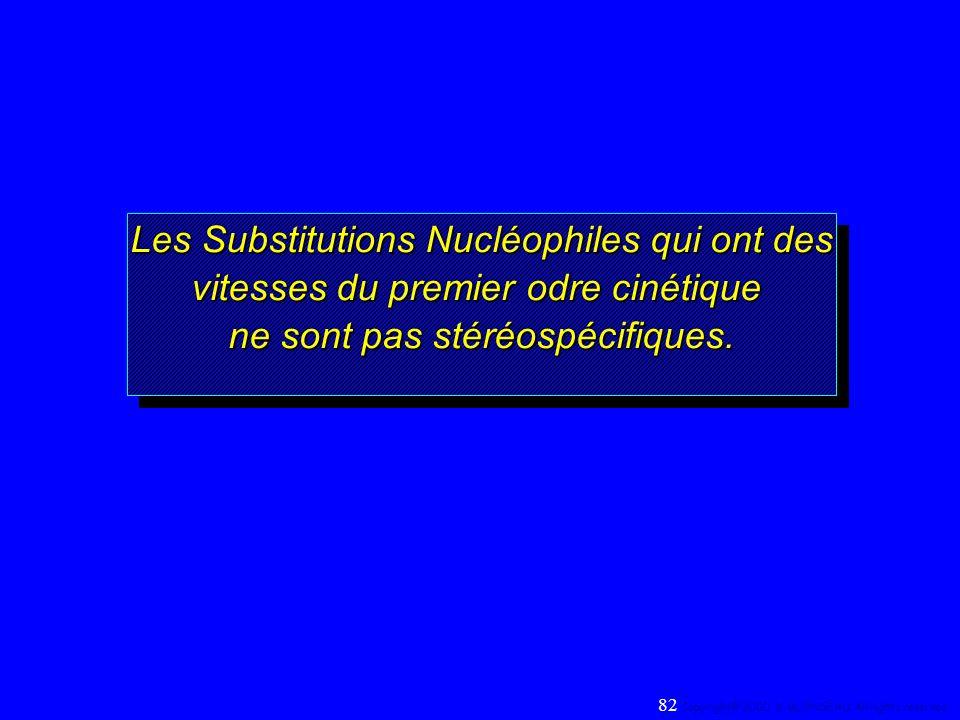 Les Substitutions Nucléophiles qui ont des