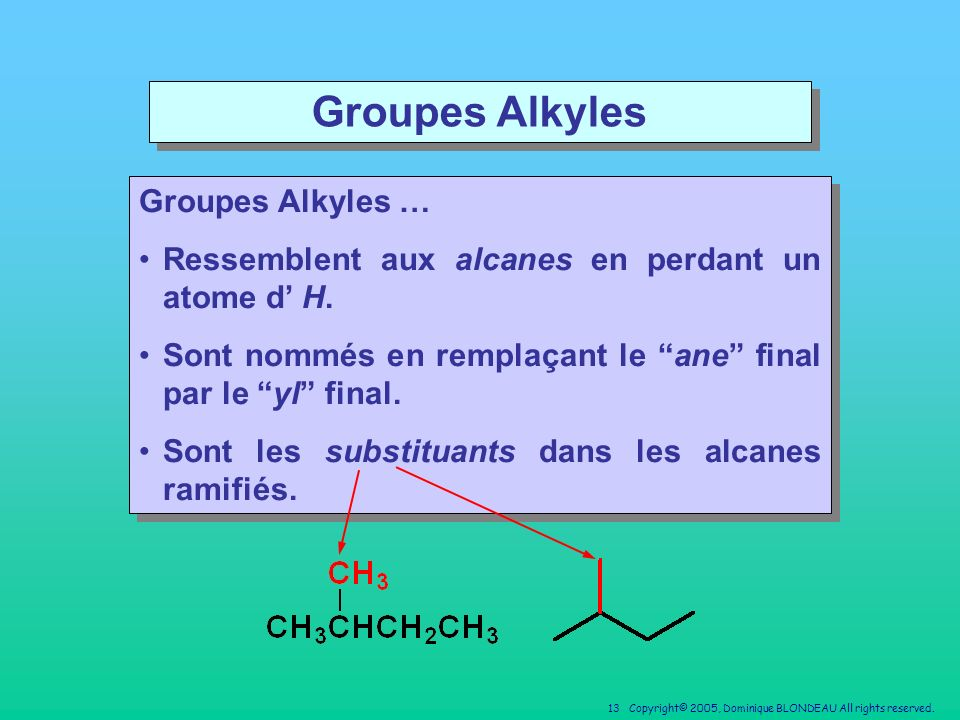 Groupes Alkyles Groupes Alkyles …