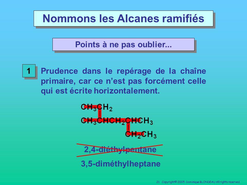 Nommons les Alcanes ramifiés