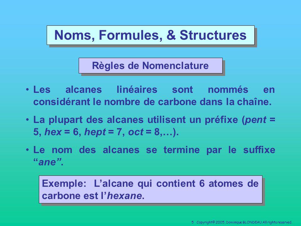 Noms, Formules, & Structures Règles de Nomenclature