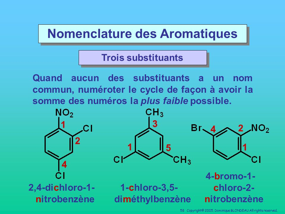 Nomenclature des Aromatiques