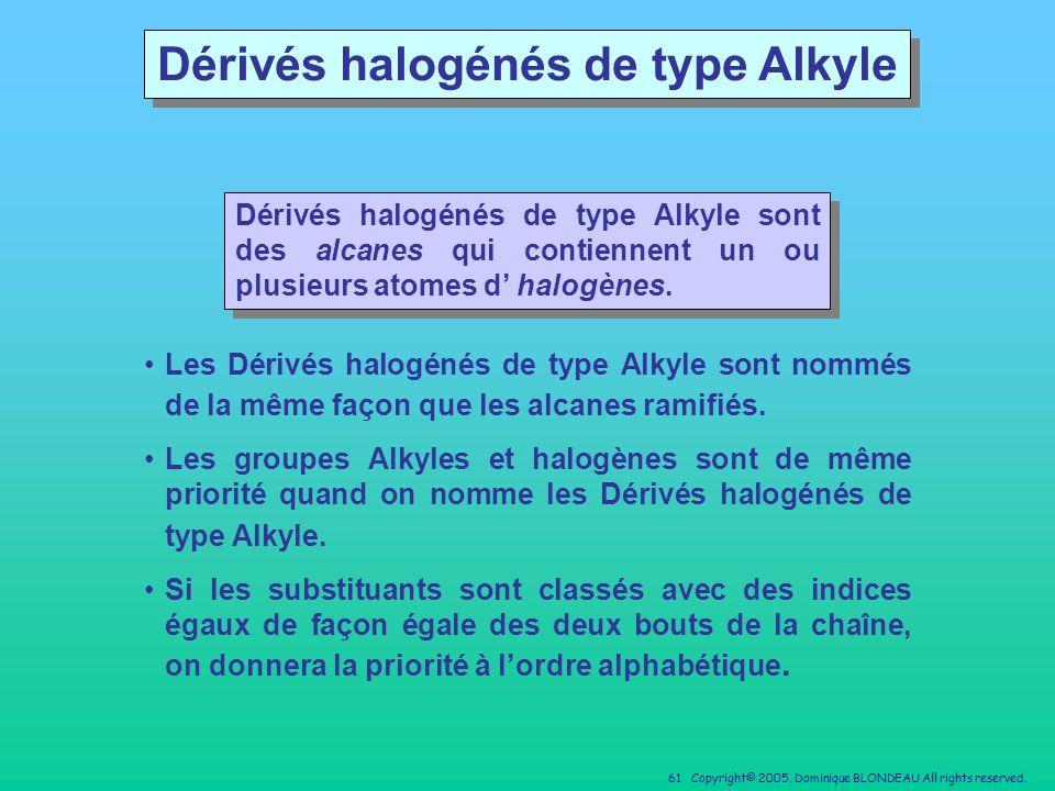 Dérivés halogénés de type Alkyle