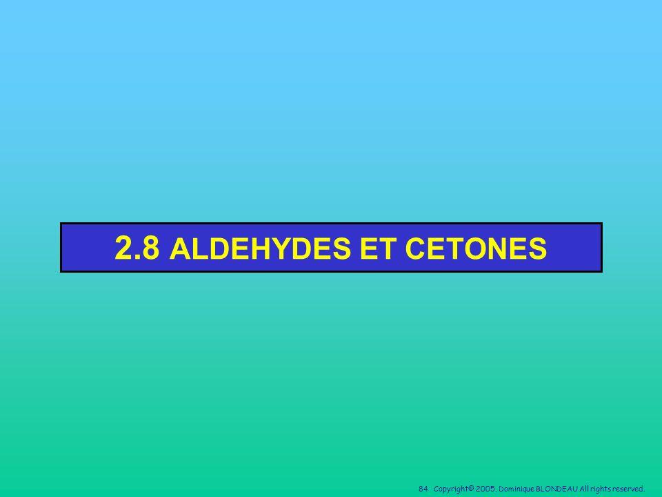 2.8 ALDEHYDES ET CETONES