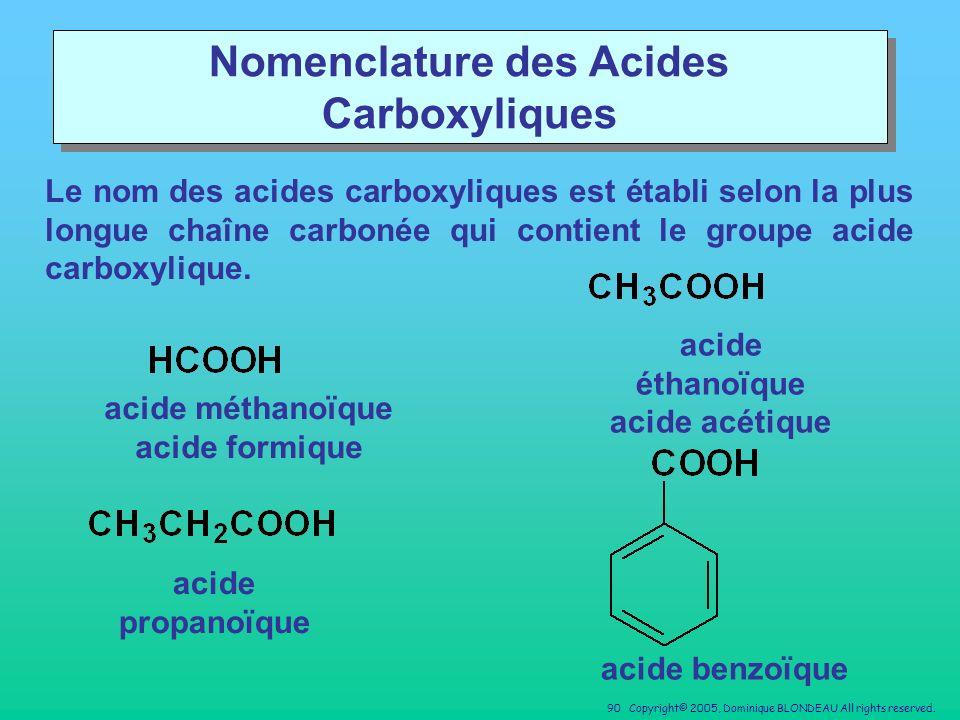 Nomenclature des Acides Carboxyliques