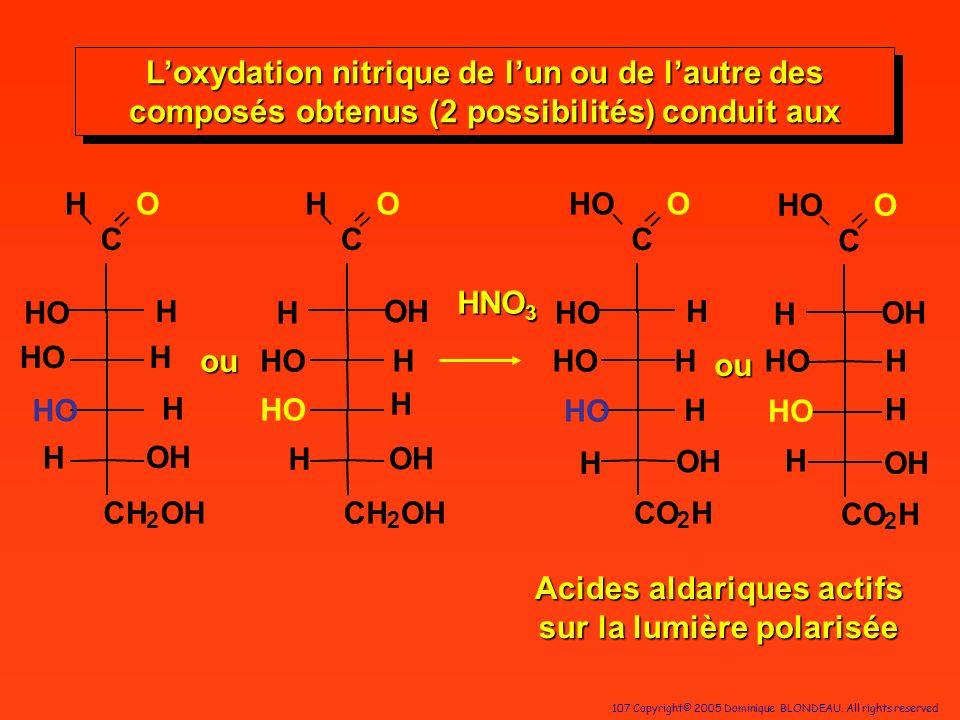 Acides aldariques actifs sur la lumière polarisée