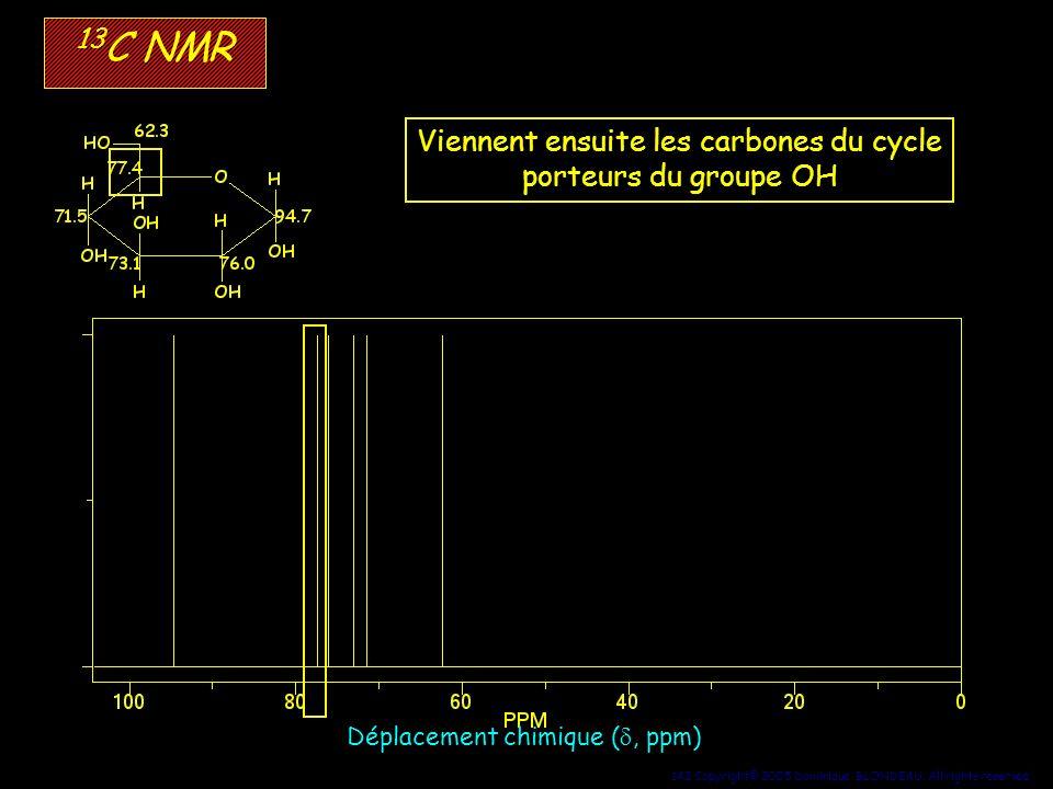 Viennent ensuite les carbones du cycle