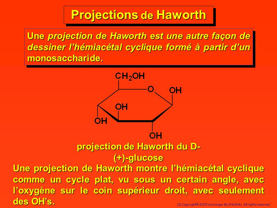 Projections de Haworth projection de Haworth du D-(+)-glucose