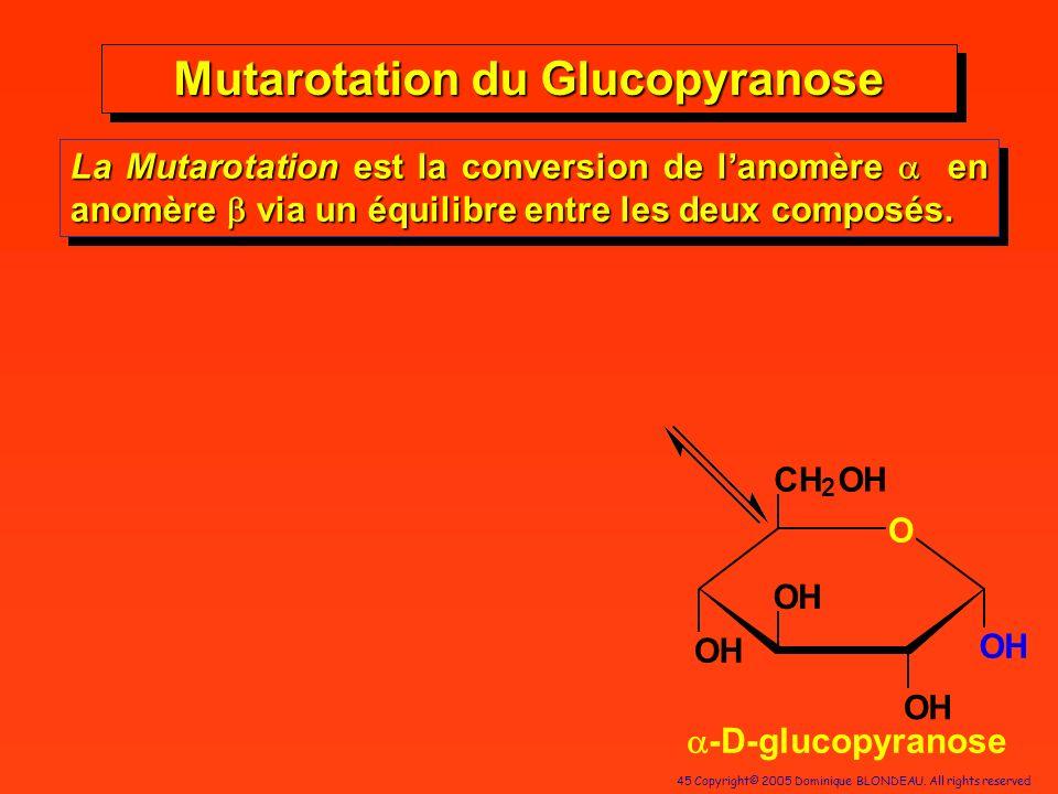 Mutarotation du Glucopyranose