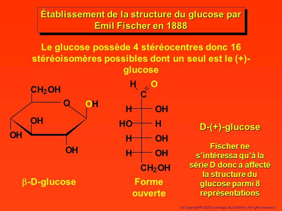 Établissement de la structure du glucose par Emil Fischer en 1888