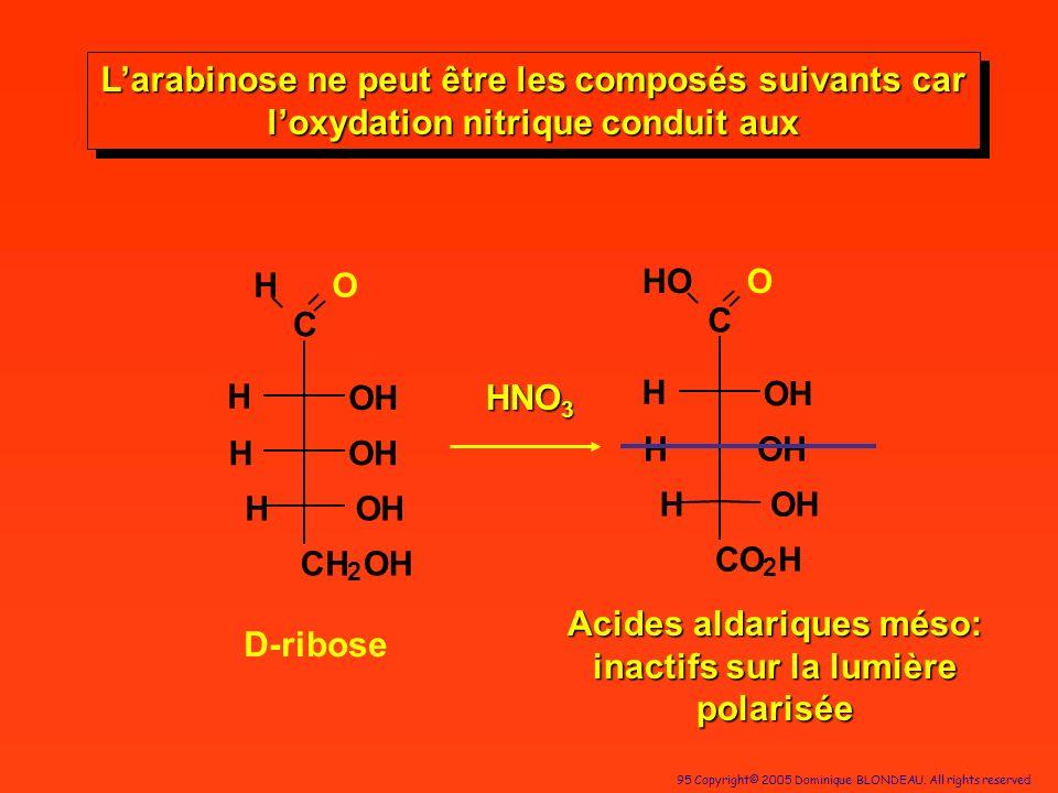 Acides aldariques méso: inactifs sur la lumière polarisée