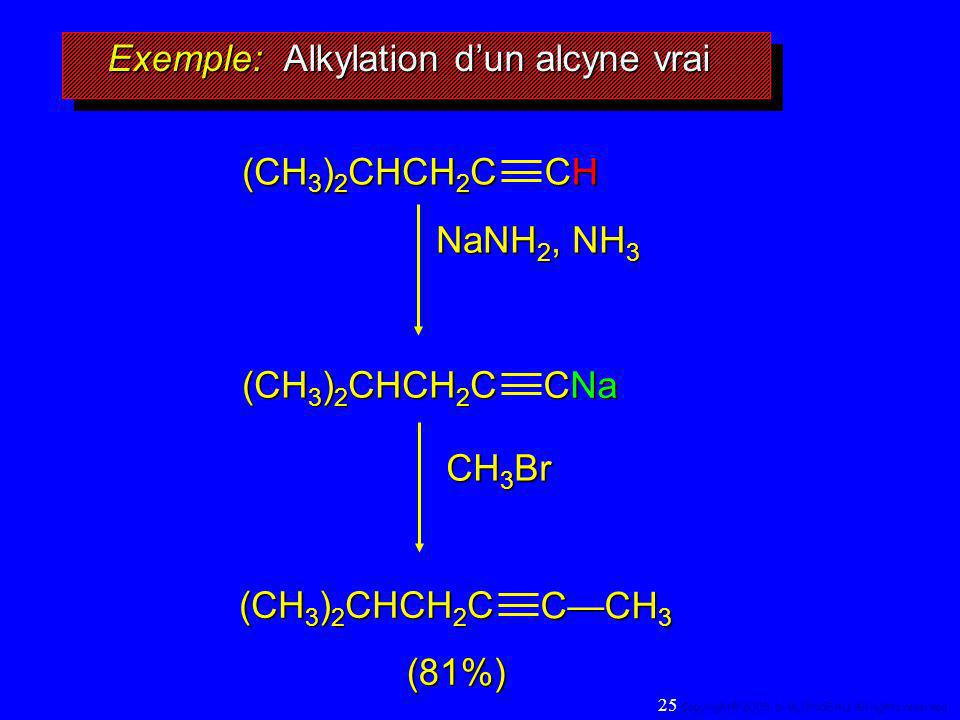 Exemple: Alkylation d'un alcyne vrai