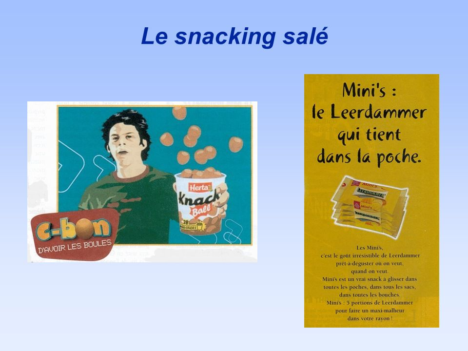 Le snacking salé