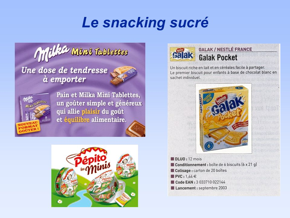 Le snacking sucré