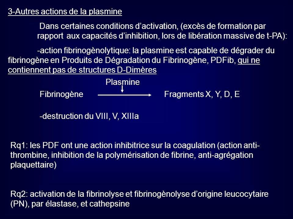 3-Autres actions de la plasmine
