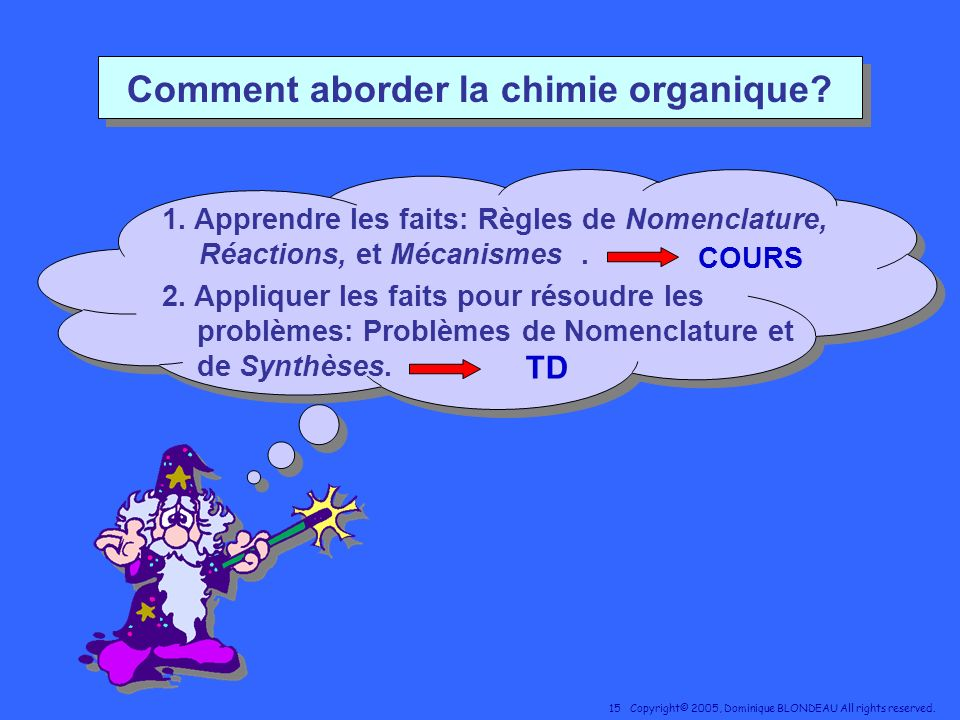 Comment aborder la chimie organique