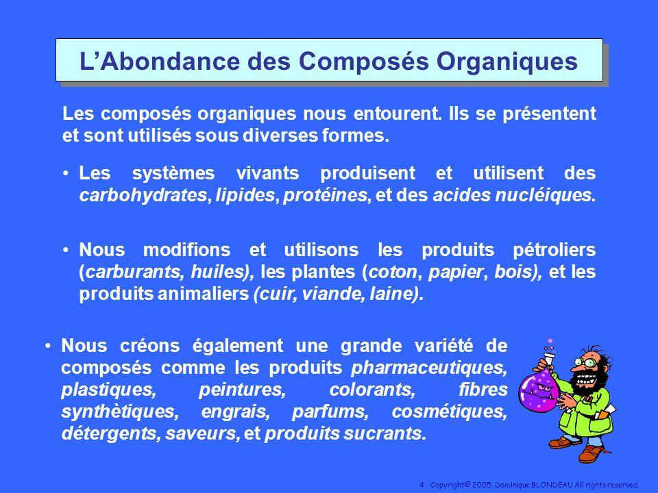 L'Abondance des Composés Organiques