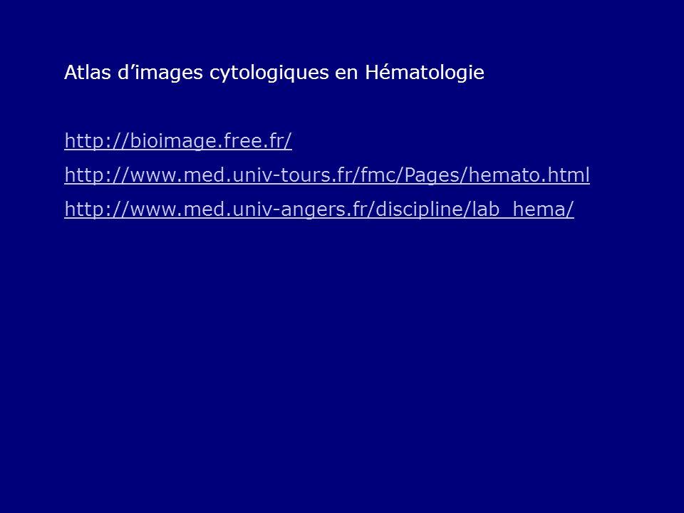 Atlas d'images cytologiques en Hématologie