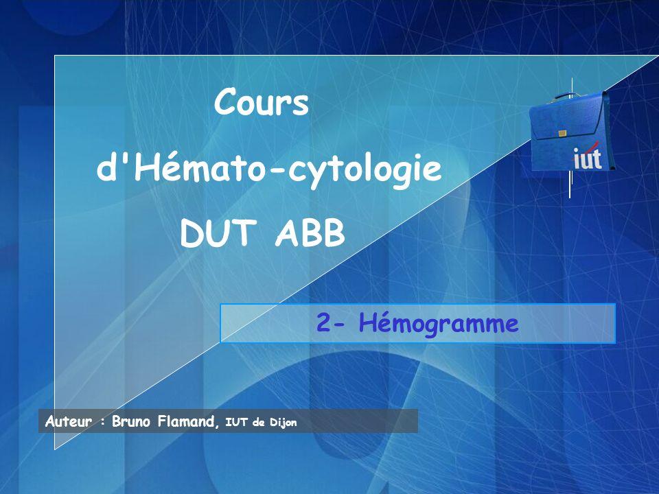 Cours d Hémato-cytologie DUT ABB