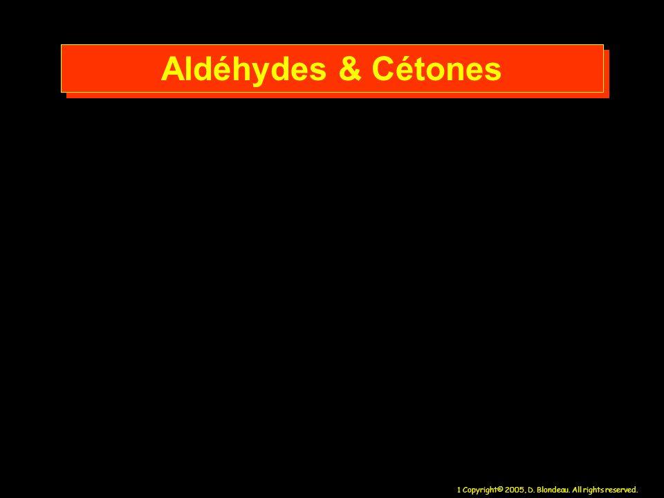 Aldéhydes & Cétones