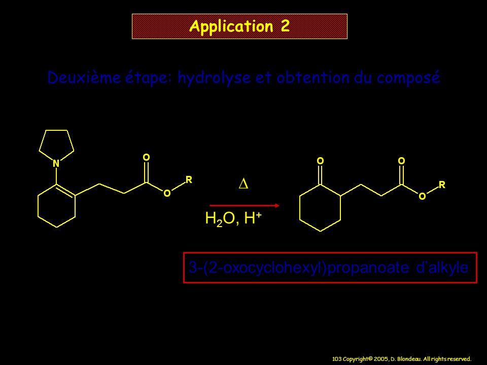 Deuxième étape: hydrolyse et obtention du composé