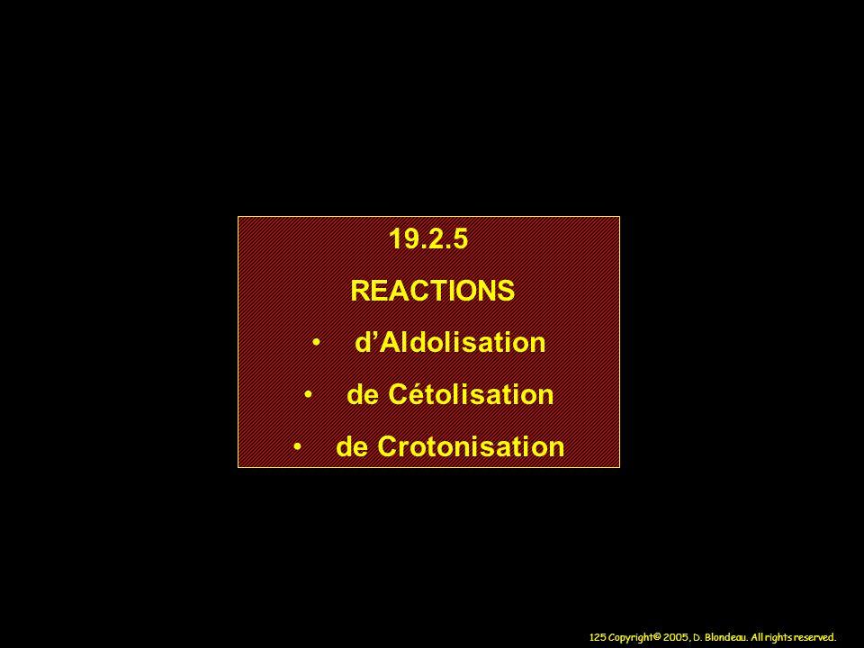 19.2.5 REACTIONS d'Aldolisation de Cétolisation de Crotonisation