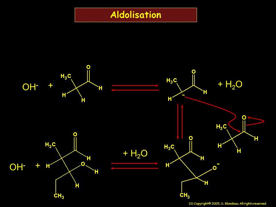 Aldolisation OH- + + H2O - + H2O - OH- +