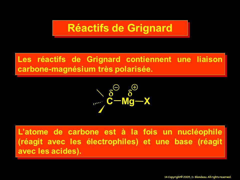 Réactifs de Grignard d C M g X