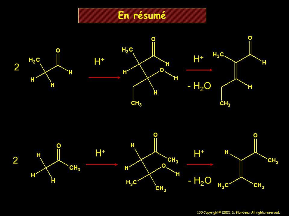 En résumé H+ H+ 2 - H2O H+ H+ 2 - H2O