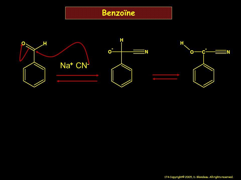 Benzoïne Na+ CN-