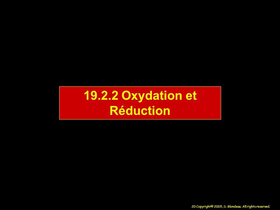 19.2.2 Oxydation et Réduction