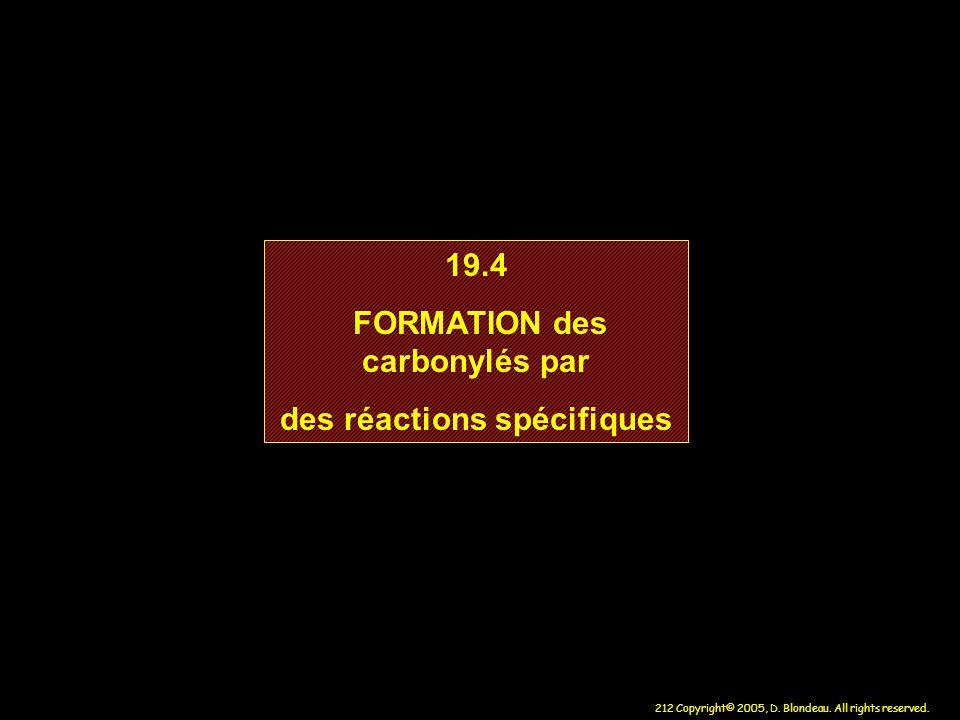 FORMATION des carbonylés par des réactions spécifiques